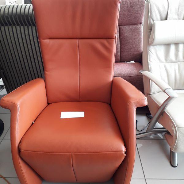 Rozsdabarna bőr mechanikus Relax fotel 21/006