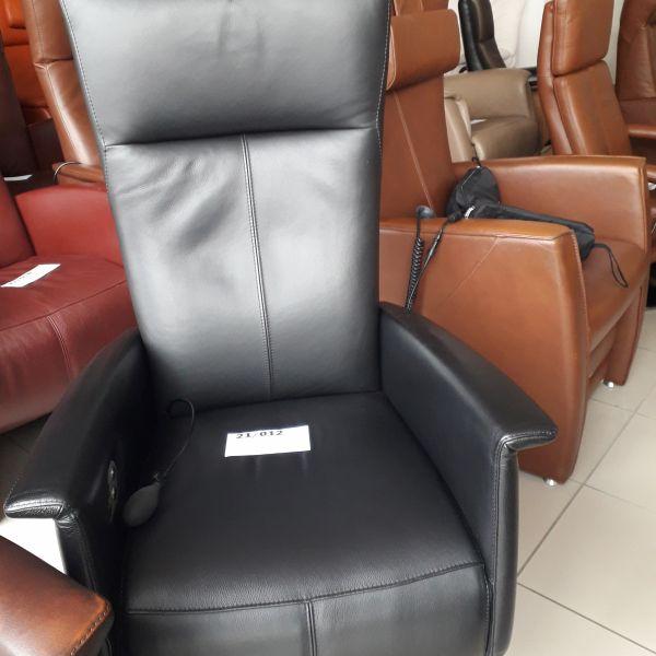 Fekete bőr elektromos, körbeforgós Relax fotel  21/012